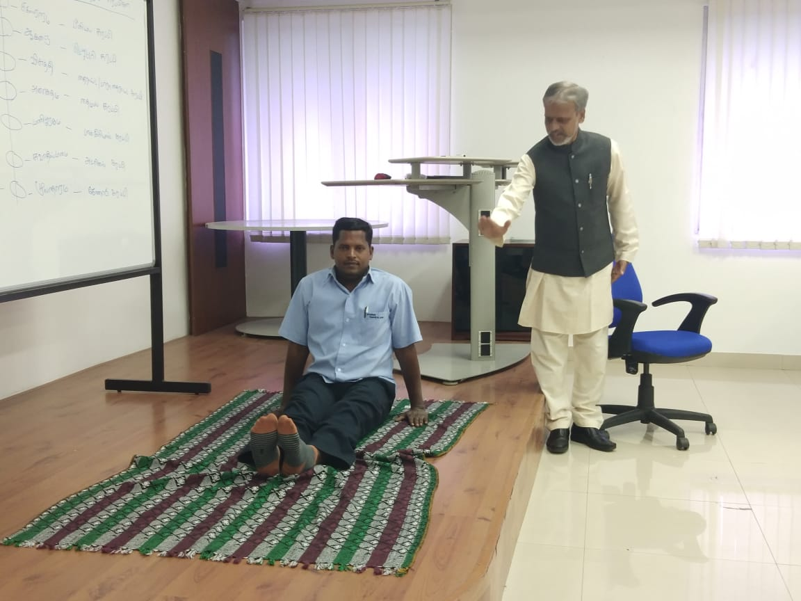 Corporate Yoga – 1 day Training Program at Dymos Lear Automotive India