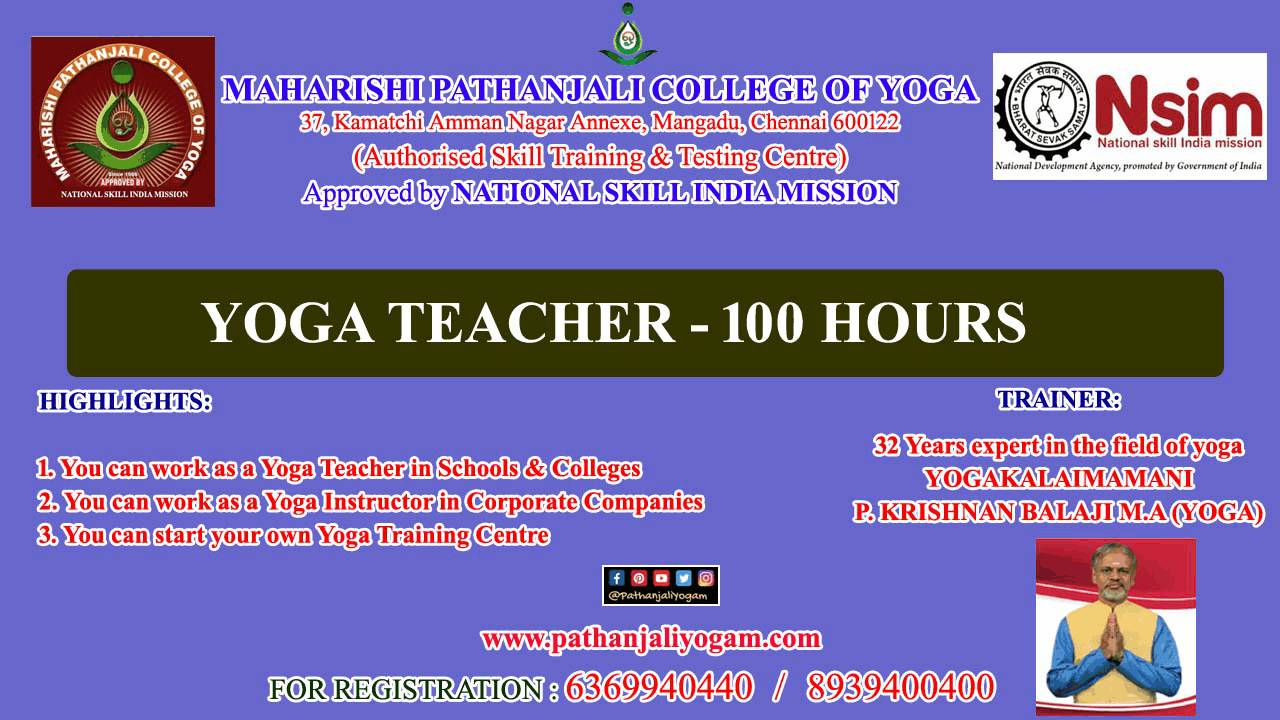 NSIM – Yoga Teacher